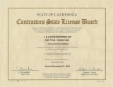 Contractor's License